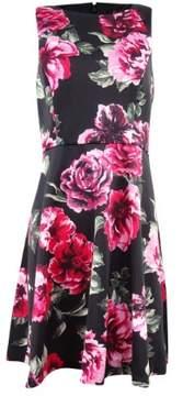 Jessica Simpson Women's Floral Scuba A-Line Dress