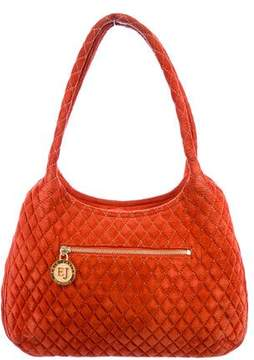 Eric Javits Quilted Suede Tote