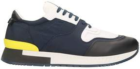 Givenchy Technical Fabric Blue/white Runner Sneakers
