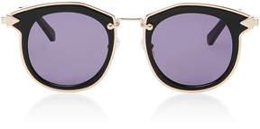 Karen Walker Bounty Round-Frame Acetate and Metal Sunglasses