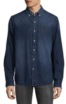 Joe's Jeans Denim Print Cotton Button-Down Shirt