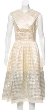 Behnaz Sarafpour Metallic Silk Dress