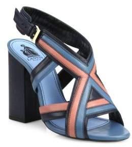 Lanvin Patchwork Leather Sandals