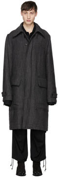 Ann Demeulemeester Grey Collins Coat