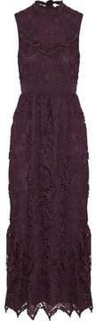Anna Sui Ruffle-Trimmed Guipure Lace Midi Dress