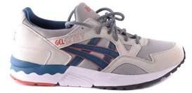 Asics Men's Blue/grey Suede Sneakers.