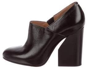 Maison Margiela Leather Round-Toe Booties