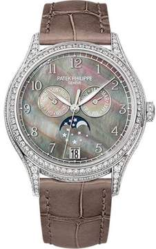Patek Philippe 4948G-001 18K White Gold / Leather 38mm Womens Watch