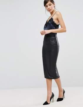 Coast Ashlynne Sequin Pencil Skirt