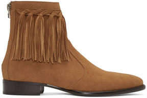 Jimmy Choo Tan Suede Eric Boots