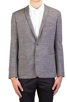 Christian Dior Men's Soft Virgin Wool Two-button Sportscoat Jacket Grey.