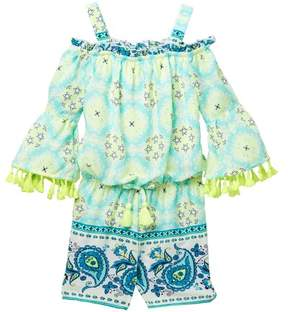 My Michelle mymichelle Printed Off-the-Shoulder Romper (Big Girls)