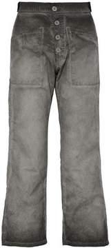 RtA Faded Cotton-Twill Wide-Leg Pants
