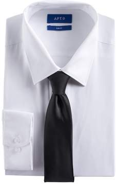 Apt. 9 Men's Slim-Fit Stretch Spread-Collar Dress Shirt & Tie Set