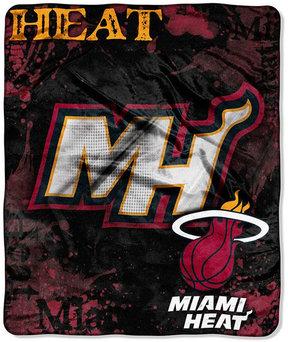 Northwest Company Miami Heat Drop-Down Plush Throw Blanket