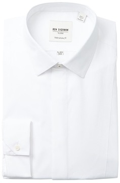 Ben Sherman End On End Stripe Tux Tailored Slim Fit Dress Shirt