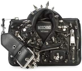 Moschino studded biker jacket bag