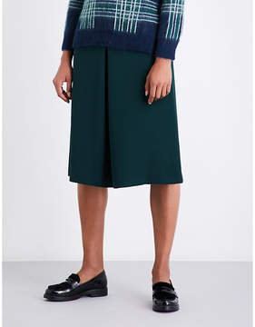 Claudie Pierlot High-rise A-line crepe skirt
