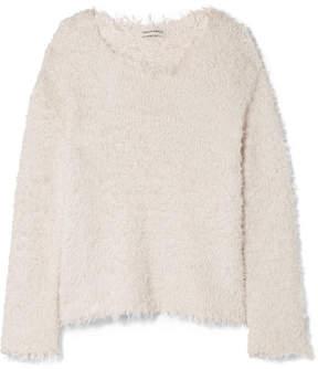Mansur Gavriel Frayed Silk Sweater - Ivory