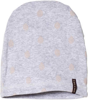 Mini A Ture Grey Rose Spot Beanie Hat