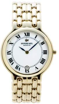 Raymond Weil Geneve 9146 18K Gold Plated White Dial 32mm Mens Watch