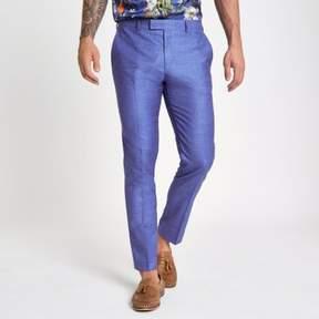 River Island Mens Purple skinny fit suit pants