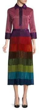 Romance Was Born Cosmic Disco Pleated Skirt Dress
