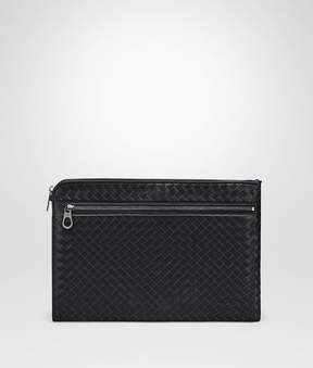 Bottega Veneta Nero Intrecciato Small Document Case