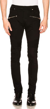 Balmain 7 Pocket Biker Jeans