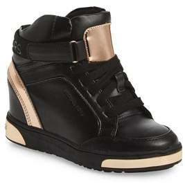 MICHAEL Michael Kors Girl's Pia Pilar Hidden Wedge High-Top Sneaker