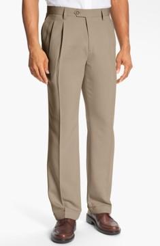 Cutter & Buck Men's Big & Tall Double Pleated Microfiber Pants