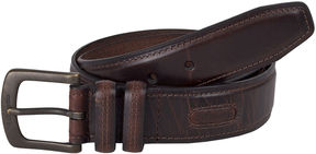 Columbia Brown Leather Belt w/Contrast Stitching