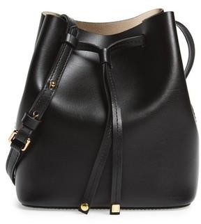 Lodis Small Silicon Valley Blake Rfid Leather Bucket Bag - Black