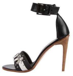 Tibi Jeweled Leather Sandals