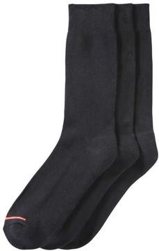 Joe Fresh Men's 3 Pack Dress Socks, Black (Size 10-13)