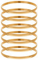 As Is Bronze Set of 7 Polished Round Bangles by Bronzo Italia