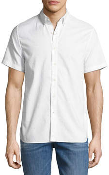 Joe's Jeans Men's Henry Short-Sleeve Slub Shirt, Light Gray