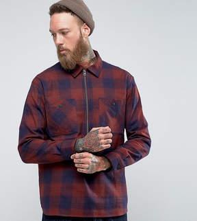 Edwin Jesse Popover Zip Check Shirt