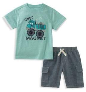 Kids Headquarters Little Boy's Two-Piece Graphic Tee and Cotton Shorts Set