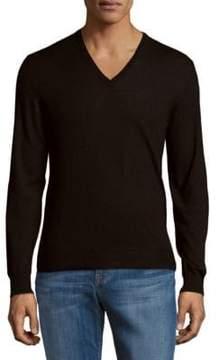 Ralph Lauren Purple Label Solid V-Neck Cashmere Sweater