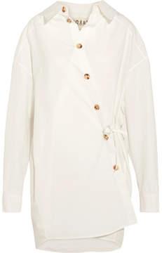 Awake Oversized Cotton-blend Poplin Shirt - White