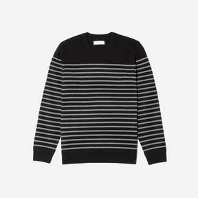 Everlane The Midweight Merino Striped Crew