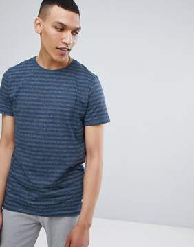 Lindbergh Striped Mouline T-Shirt in Blue Mix