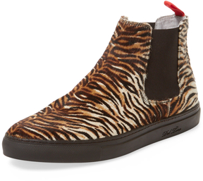 Del Toro Men's Tiger Pony Hair Chelsea Sneaker