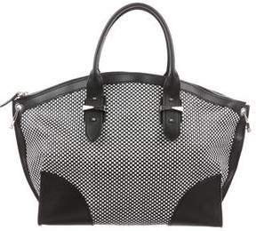 Alexander McQueen Woven Leather Legend Bag