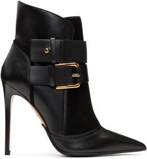Balmain Black Suede Anais Boots