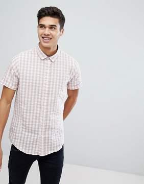 Brave Soul Seersucker Check Summer Shirt