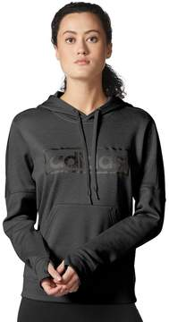 adidas Women's Linear Metallic Graphic Pullover Hoodie