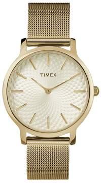 Timex Women's Metropolitan Skyline Stainless Steel Mesh Watch - TW2R36100JT