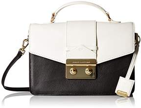 Juicy Couture Label Color Mixing Top Handle Crossbody with Envelop Flap with Gold Closure with Longer Crossbody Straps